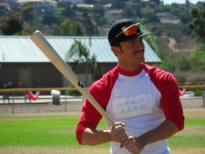 Domingo Ayala shows his skills