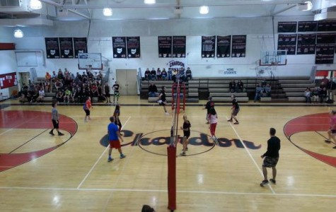 Senior vs. Faculty Volleyball Game