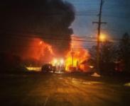 Massive Fire Strikes Burton