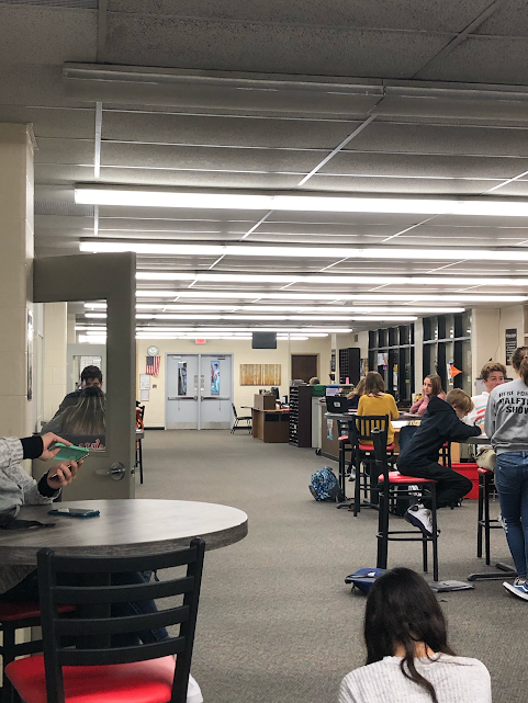 The library may be getting more crowded as more and more students aren