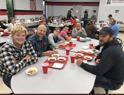 Community members enjoy the 19th CHS Chili Cook Off.