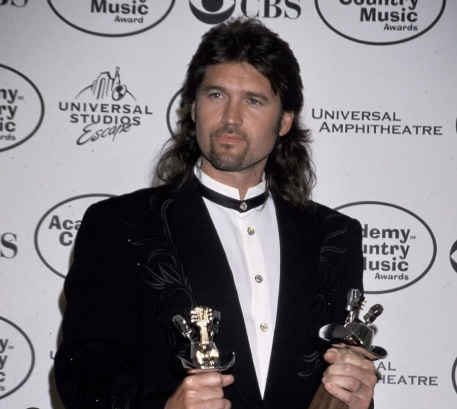 Popular singer Billy Ray Cyrus in 1993 at  the American Music Awards.